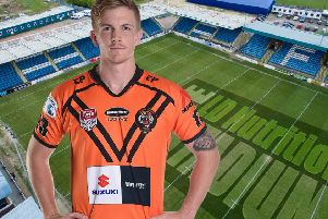 New Featherstone Rovers signing Conor Carey.