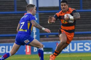 Peter Mata'utia in action for Castleford Tigers. Picture: Craig Cresswell