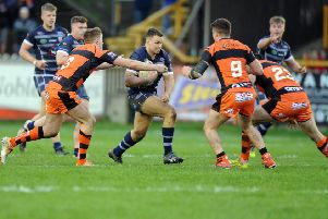 Spencer Darley in action for Featherstone Rovers.