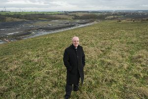 Picture by Allan McKenzie/YWNG - 07/01/15 - Press - Glasshoughton Southern Link Road Scheme - Glasshoughton, England - Councillor Dave Dagger at the site of the proposed new Glasshoughton Southern Link Road development.