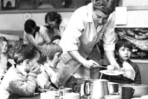 A ladle-full of 'plarpy' school dinners perhaps, for these hungry-looking 'sprouters'.