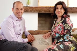 Phil Spencer and Kirstie Allsopp, of the popular Channel 4 show, 'Location, Location, Location'.