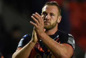 Liam Watts: First try for Castleford Tigers.