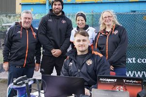Castleford Tigers Supporters Club present the performance department with valuable equipment after making a �3,000 donation from money raised at CTSC events in the past year.