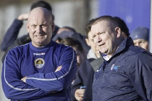 Glasshoughton Welfare joint managers Darren Holmes and Lee Vigars.
