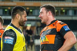 Hull FC's Mickey Paea, left, and Castleford Tigers' Grant Millington, right, have both been charged by the Match Review Panel. (SWPix)