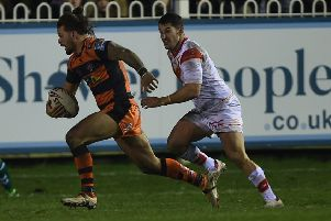 Alex Foster, back in the Castleford Tigers squad.