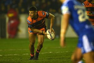 Jacques O'Neill on his debut for Castleford Tigers. Picture: Matthew Merrick