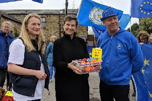 """The pro-EU group delivered baskets of fruit to MPs, which they hoped would serve as a reminder of """"some of the many blessings we enjoy as EU members."""""""