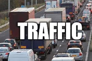 Commuters hit traffic on the M1 at Wakefield this morning.