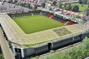 An artist's impression of how a refurbished Belle Vue may look.