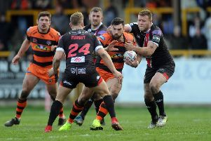 Matt Cook in action for Castleford Tigers in last week's game against Salford Red Devils. Picture: Tony Johnson.