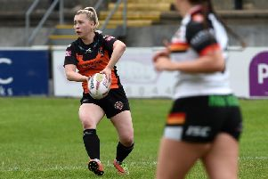 Georgie Hetherington, who crossed for a hat-trick of tries for Castleford Tigers Women.