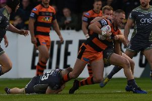 Liam Watts, who is leading by example with some hard working performances for Castleford Tigers. Picture: Matthew Merrick