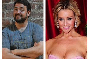 Cast members Jason Manford and Catherine Tyldesley.
