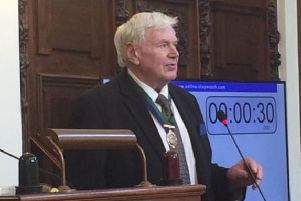 Coun Robert Heseltine, after being elected vice-chairman of North Yorkshire County Council.