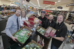 Aldi's Castleford stores in partnership with charities