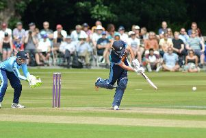 Derbyshire  v Yorkshire T20 game at Queens park Chesterfield.