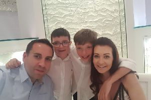 Steve Gullick, picutred with wife Rebecca and sons Jacob (left) and Thomas, will be climbing Kilimanjaro to raise money for The Children's Hospital Charity.