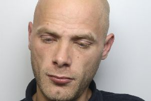 Gary Brandon spat at two police officers after he crash stolen car.