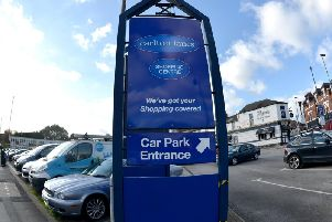The incident happened in the shopping centre's car park