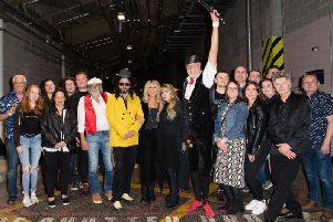 Fleetwood Macs meet Fleetwood Mac - the famous rock band, including Crowded House's Neil Finn - meets the crew from the McDonald's outlet in Fleetwood