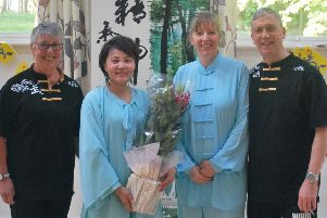Tina Meadows, Master Faye Yip, Cindy Cressey and Tim Edwards at the event to celebrate World Tai Chi and Qigong Day.