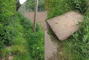 Work has since been carried out by Barratt Developments to tidy up the footpath