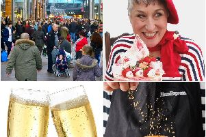 Trinity Walk will see Karen Wright from The Great British Bake Off,free pizza and Prosecco this Sunday.