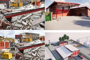 The demolision begins and what the new fire station will look like, (Pictures WYFRS)