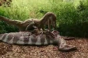 One of the new dinosaurs at Blackpool Zoo