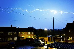 This video shows some of the best shots of lightning captured in Wakefield last night.