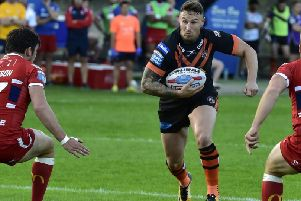 Jamie Ellis, back in the Castleford Tigers squad.