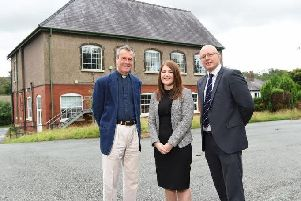 Reverend Philip Venables (vicar of St Johns Church) with Nicola Benduce (property solicitor at Harrison Drury) and Andrew Taylorson (director at commercial property consultancy Eckersley).