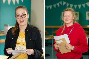 Top achievers at Minsthorpe Community College included Molly Hoskins, with A*AB, Naomi Cadman, ABC.