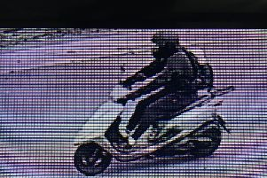 South Yorkshire Police are appealing to the rider of the scooter (pictured above)to get in touch.