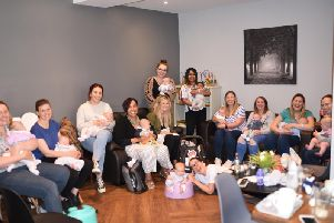 A Mums United Movement coffee meet-up in full swing.