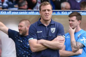 Featherstone Rovers head coach Ryan Carr. PIC: Dec Hayes.
