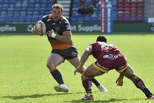 Grant Millington is a doubt for Thursday's trip to Wigan. PIC: Matthew Merrick.