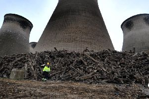 Four of the remaining cooling towers at Ferrybridge Power Station will be demolished next month.