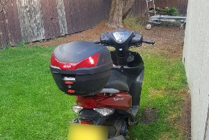 The stolen moped which has now been recovered.