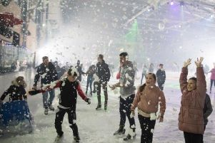 Christmas fun at the National Ice Centre in Nottingham