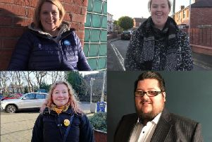 From top left - Katherine Fletcher (Conservative), Kim Snape (Labour), Jo Barton (Liberal Democrats) and Andy Fewings (Green Party)