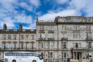 Enjoy a comfortable coach ride to the splendid-looking Hotel Prince Regent in Weymouth.