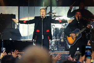 Gary Barlow on stage at Sherwood Pines. Picture: Chris Etchells.