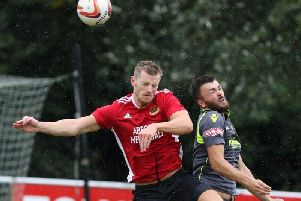 Nick Black netted twice in Knaresborough Town's demolition of Kendal. Picture: Craig Dinsdale
