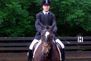 Oliver Peace riding Bailey.