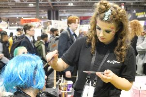 North Notts College make-up students at the World Skills UK event