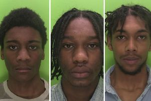Kasharn Campbell (centre), Christian Jameson (left) and Remmell Miller-Campbell chased Lyrico Steede before attacking him, a court heard