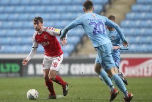 Jack Sowerby replaced Nathan Sheron for the second half at Coventry